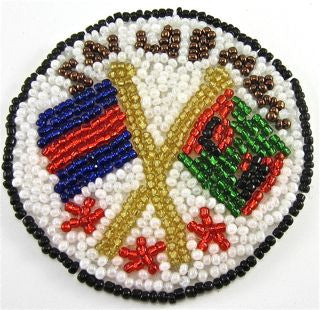 Sailorman Emblem with Multi colored Beads 2.5""