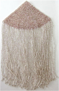 Epaulet with Lite Pink Sequins and Fringe