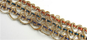"Trim with Multi-Colored Remnant 1.25"" Wide 22""lengthj"