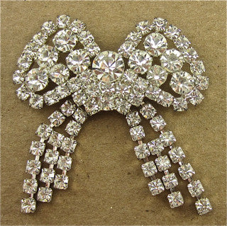 "Bow with all Rhinestones 2.5"" x 2.75"""