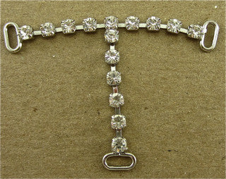 "T Strand of 15 High Quality Rhinestone 2,5"" x 1.5"""