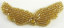"Load image into Gallery viewer, Wings Gold Beads and Rhinestone, 3""x 1"""