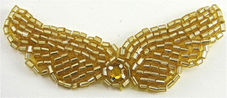 Wings Gold Beads and Rhinestone, 3