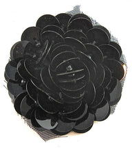 Load image into Gallery viewer, Flower with Black High Rise Sequins 1.5""