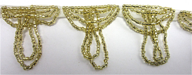 Trim with Tiny Gold Beaded Loops 1.5""