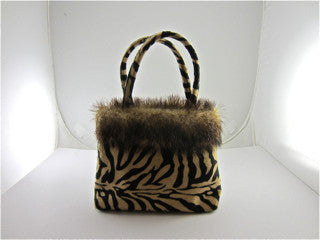 "Jungle Handbag Special! Plus Applique of your Choice. Total Bag Size is 8"" x 6"""