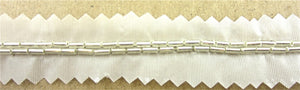 "Trim Two Rows Silver Beads 10 yards Each Some Tarnish 1/4"" Wide"