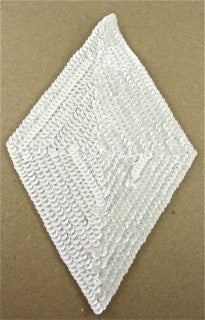 "Designer Motif Triangle Large with White sequins 8.5"" x 5"""