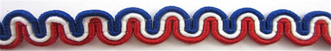"Trim Red White and Blue Looped 1/4"" W"