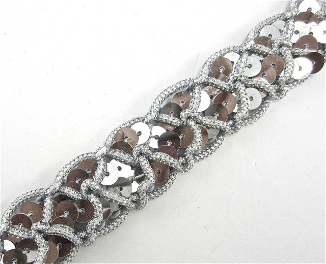 "Trim with Silver Tinsel Thread 1"" Wide"
