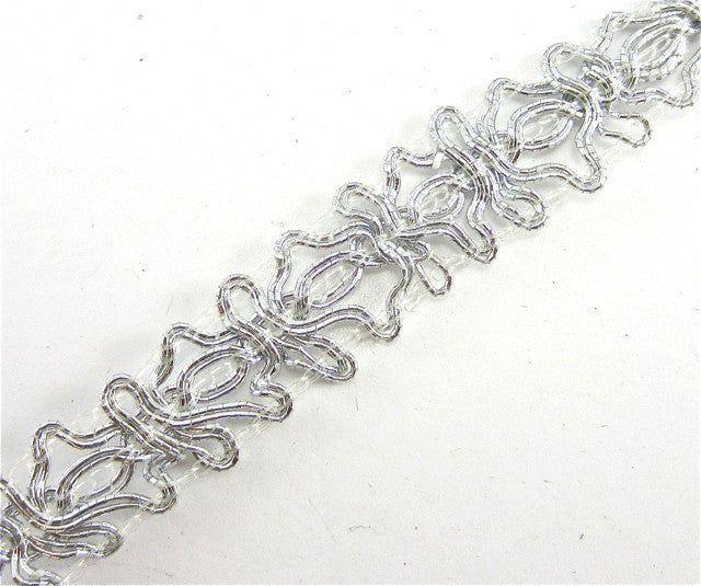 "Trim with Silver Bullion Thread .5"" Wide"