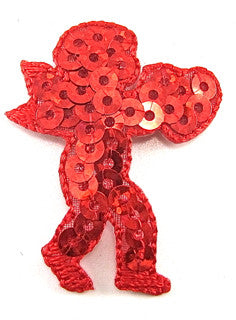 "Cupid with Red Sequins 1.5"" x 1.25"""