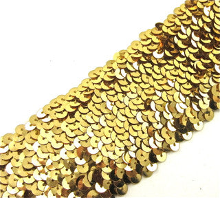 GOLD SEQUIN STRETCHY TRIM