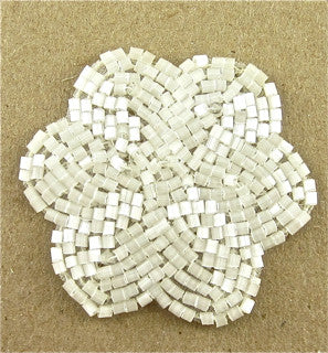 Flower with White Beads 2""