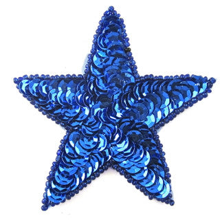ROYAL BLUE SEQUIN STAR 3""