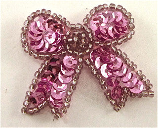 Bow with Pink Sequins and Beads 1.5