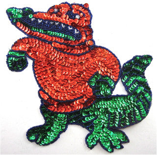 "Alligator with red and green 8"" x 7.5"""