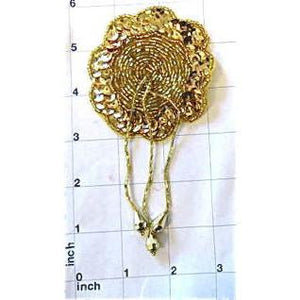 "Epaulet Flower Drop 5"" X 3"""