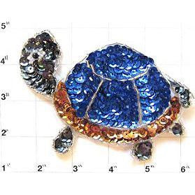 "Turtle with Blue Shell 5"" x 3"""