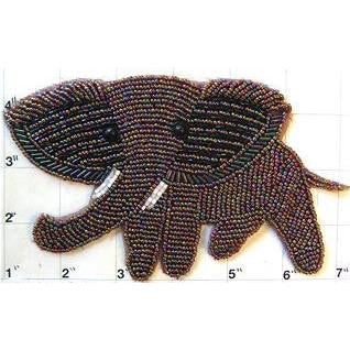 "Elephant with Moonlite Beads 6.5"" X 4"""