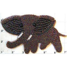 "Load image into Gallery viewer, Elephant with Moonlite Beads 6.5"" X 4"""