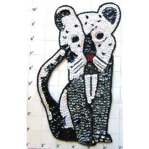 "Cougar with Black and White Sequins 9"" x 6"""