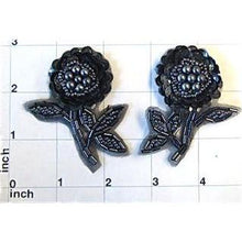 "Load image into Gallery viewer, Flower Charcoal with Charcoal Beads 2.5"" x 2"""