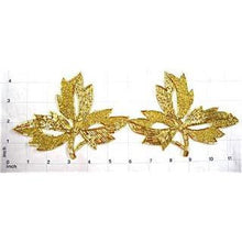 "Load image into Gallery viewer, Leaf with Gold Beads 4.5"" x 6"""