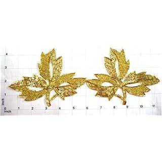 Leaf with Gold Beads 4.5