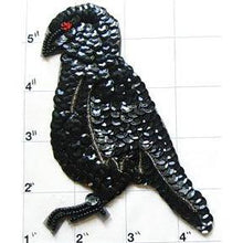 Load image into Gallery viewer, Bird with Black Sequins Red Eye 4.5""