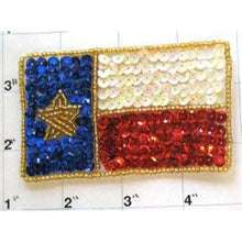 "Load image into Gallery viewer, Texas Flag 3.5"" x 2.25"""