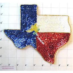 "Texas Yellow Rose Map 7.5"" x 8"""