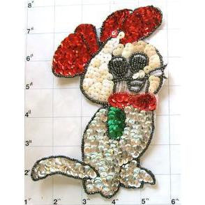 "Mouse White with Red Ears 7"" x 4.5"""