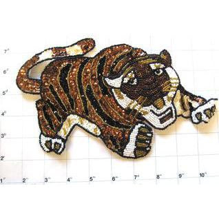 "Tiger with Brown and Black Stripes 9"" x 6"""