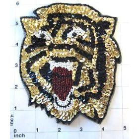 "Tiger Face Roaring 6"" x 5"""