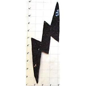 Lightening Bolt with Black Sequins and Beads