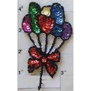 "Balloons Multi-Colored Set 4.25"" x 2.5"" - Sequinappliques.com"