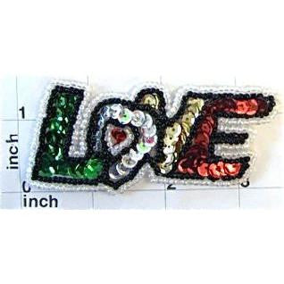 "LOVE Word Spelled Out 1.5"" x 3.5"""