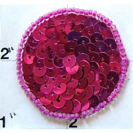 Dot Fuchsia Sequins and Beads 1.5""