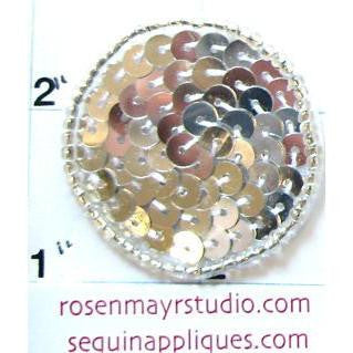 Dot Silver Sequins and Beads  .75""