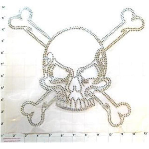 "Skull and Bones  Iron-on Heat Press 12"" x 13"""