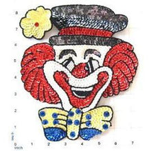 "Load image into Gallery viewer, Clown with Bow and Flower, Sequin Beaded Size 8.25"" x 7"" or  9"" x 7.25"""