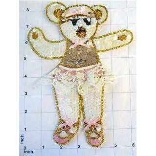 "Ballerina Bear in Tutu 8.25"" x 6.25"