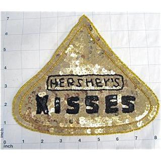 "Chocolate Candy Kisses, Sequin Beaded  6.25"" x 7.5"""