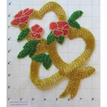 "Load image into Gallery viewer, Hearts Floral Design All Beads 9"" x 8"""