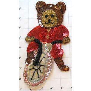 "Bear on a Bike 9"" X 4.75"""