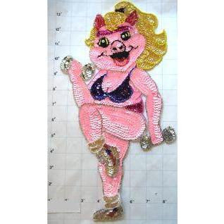 "Pig Miss Piggy doing Aerobics 14"" x 7"""