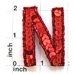 Letter N Red 2""