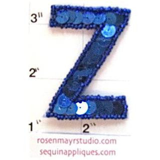 Letter Z Royal Blue 2""