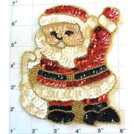 "Santa Waving with Bag 5.75"" x 4.5"""